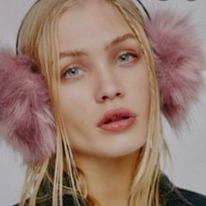 Free People faux fur earmuffs